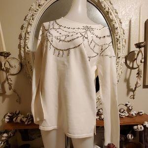 Jeweled Marisa Christina Sweater. #23